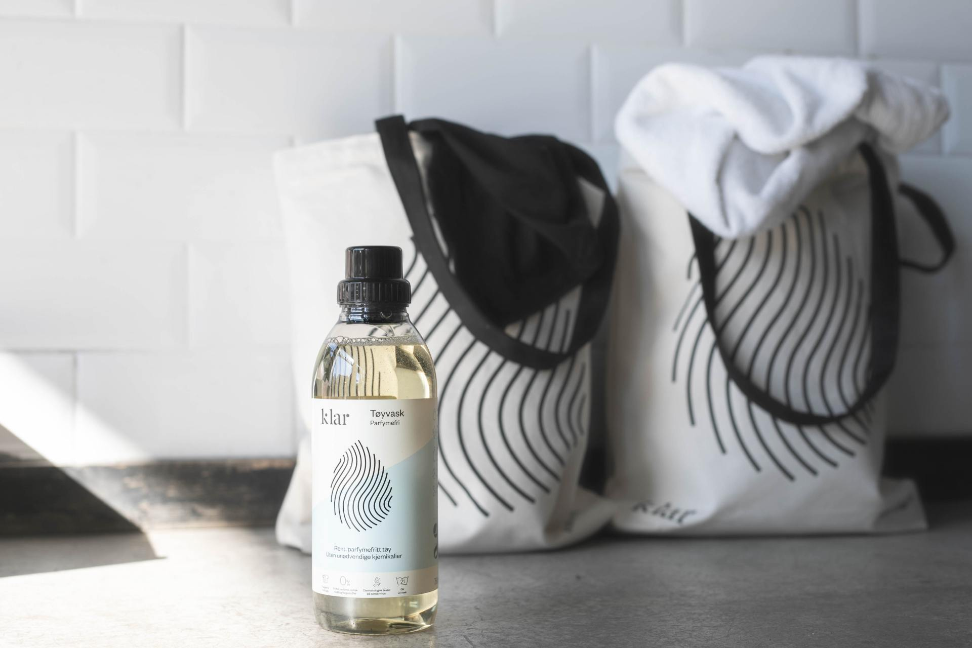 Klar-serien er vegansk - Klar tøjvask uden parfume